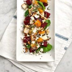 Beet-Pear-and-Walnut-Salad