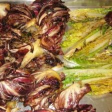 Grilled Radicchio & Hearts of Romaine with Shaved Pecorino