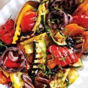 Grilled balsamic veggies