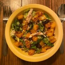 Harvest Salad with Chicken, Figs, and Butternut Squash