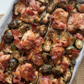 Sheet pan smoky sweet chicken and brussels