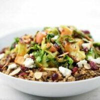 Wild Rice and Brussels Sprouts Harvest Bowl