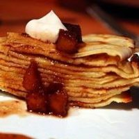 apple-crepe-stack-with-Cinnamon-pear-balsamic-caramel-sauce