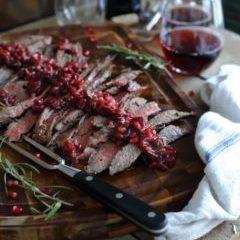 balsamic-pomegranate-flank-steak