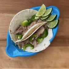 lime pork tacos